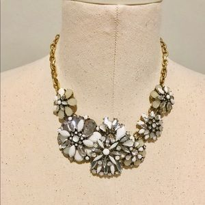 LOFT Statement Necklace Snowflake/Flower design